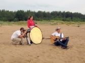 Edvīns Bauers dziesmas videoklipa filmēšanas laikā